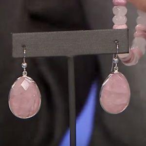 JAY KING Rose Quartz & Opal REVERSIBLE  Earrings